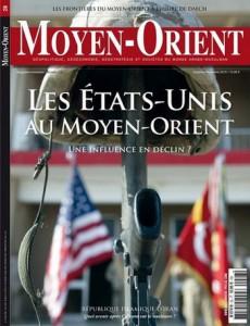 """Couverture de la revue Moyen-Orient """"Les Etats-unis au Moyen-Orient"""""""