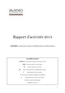 Rapport d'activité iReMMO 2014