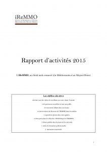 Rapport d'activité iReMMO 2015
