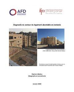 Couverture du Diagnostic du secteur du logement abordable en Jordanie - Ifpo/AFD