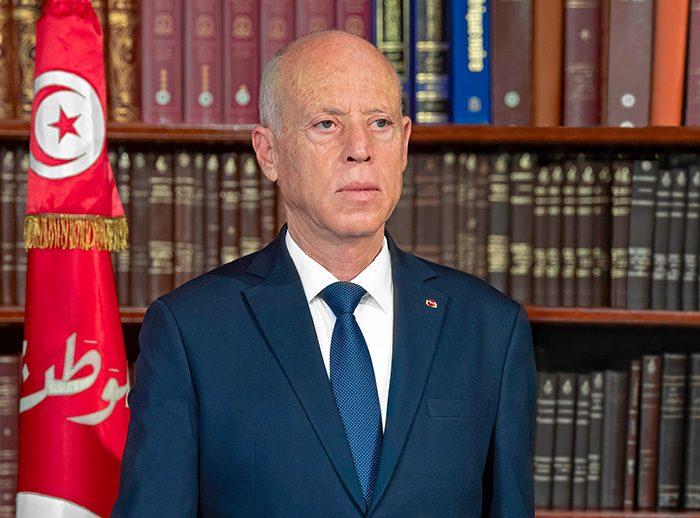 Portrait de Kaïs Saïed, président de la Tunisie