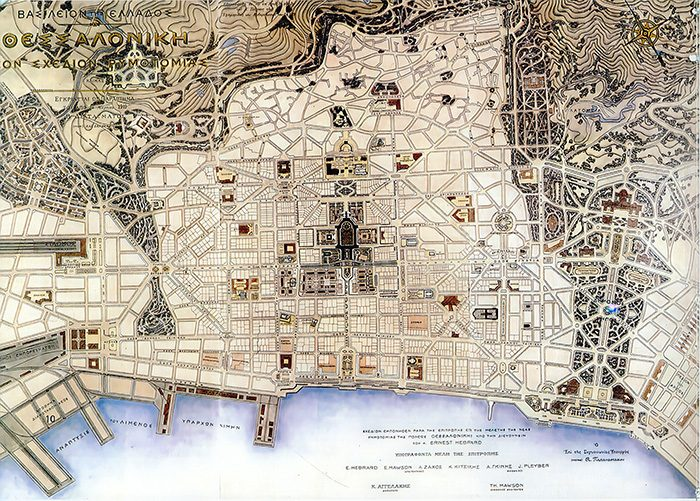 Carte ancienne de Salonique
